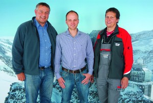 From left to right: Jürg Gerber, R&M Switzerland; Urs Berger, Brunner + Imboden AG; Heiri Früh, Jungfraubahnen Management AG