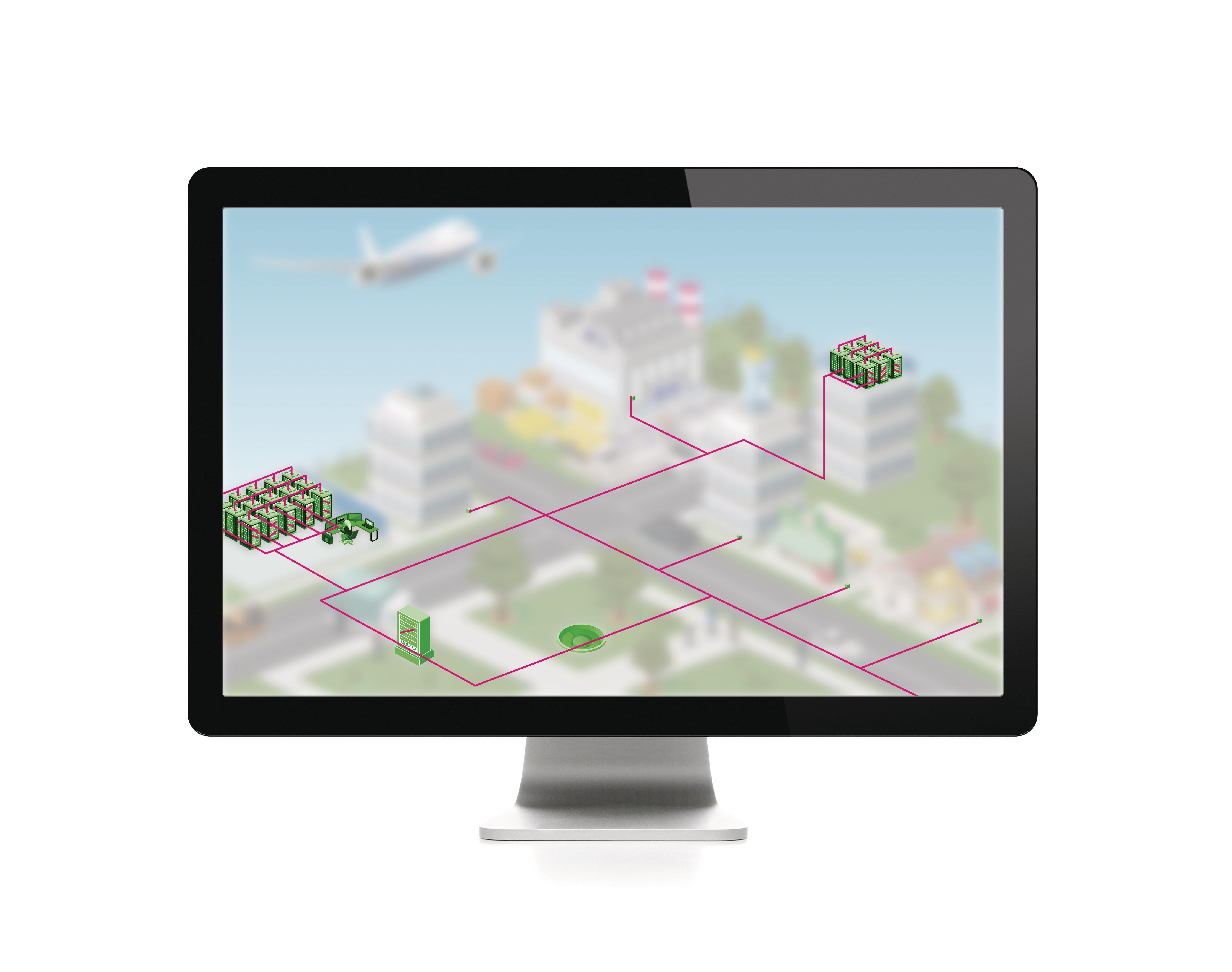 Digitales Abbild, um die IT-Hardware erweitert.