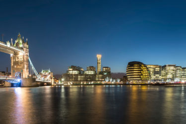 London Skyline Panorama taken at Twilight