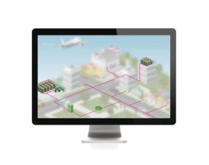 Imagen digital con la incorporación del hardware de TI.
